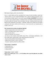 Do školy na bicykli 2020